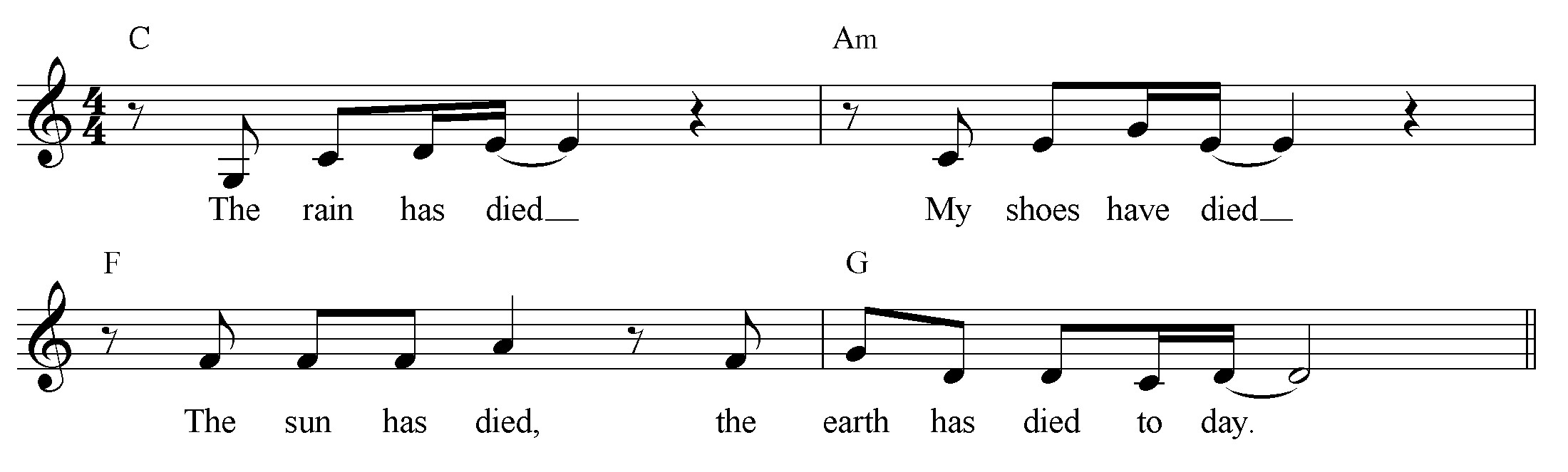 21. Example based on Rosen poem