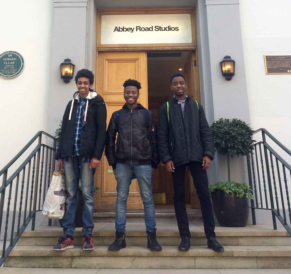 LPO Junior Artists visit the Orchestra recording at Abbey Road studios