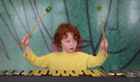 Young percussionist