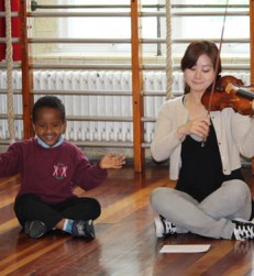 Pupil and violinist